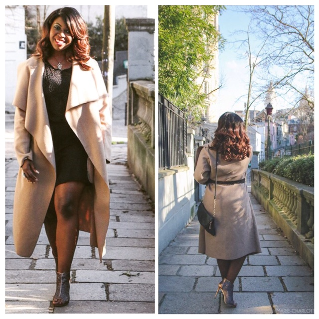 Le long manteau beige !