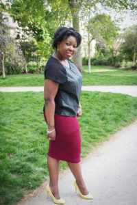 Mon look working girl et ma jupe crayon burgundy