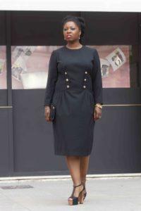 Ma robe noire vintage signée Gérard Pasquier