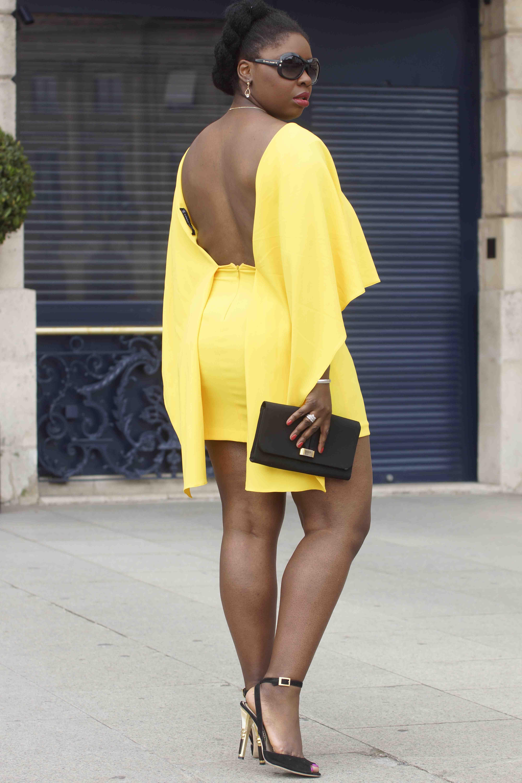 Ma robe cape jaune cocu !