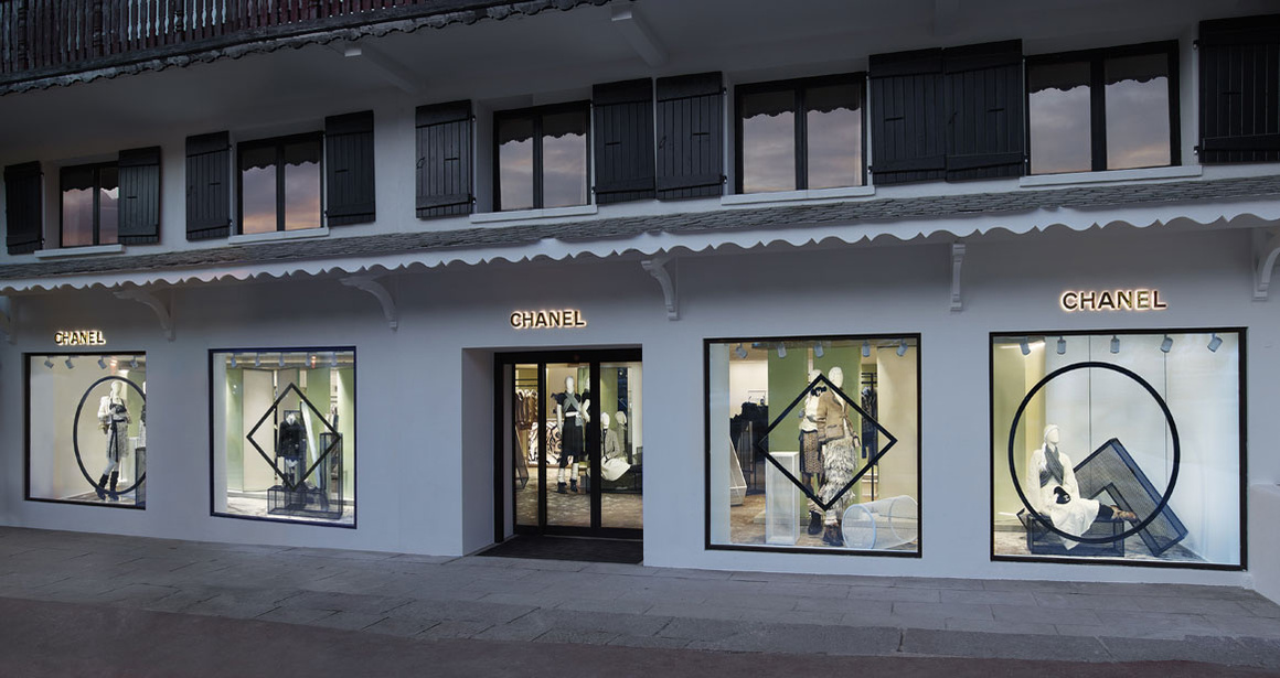 La boutique éphémère Chanel à Courchevel