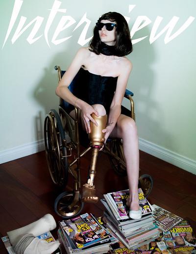 Lauren Wasser, mannequin américain amputé à cause d'un tampon