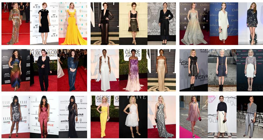 Les célébrités les mieux habillées de l'année 2015