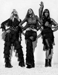Pour sa nouvelle campagne, Balmain réunit Naomi Campbell, Claudia Schiffer et Cindy Crawford