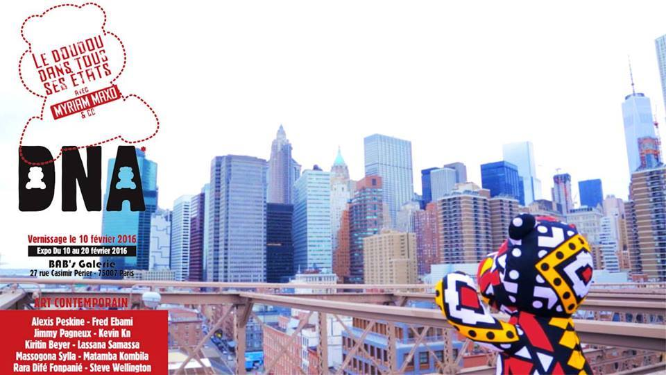 L'exposition DNA (D de DD – N de Nation – A de art). «Le doudou dans tous ses états » avec Myriam Maxo &Co.
