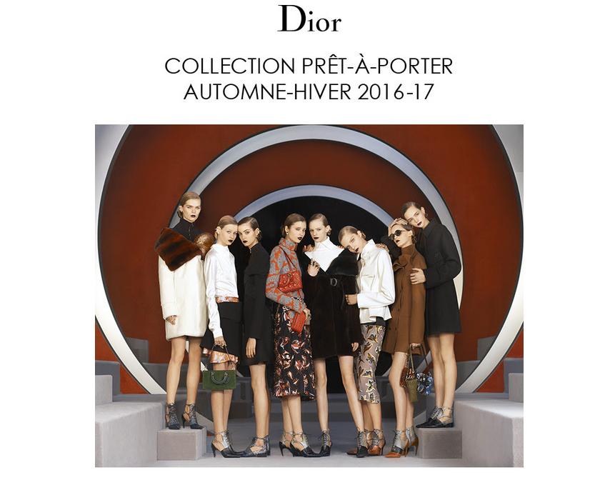 Revivez les meilleurs moments du défilé Dior prêt-à-porter Automne-Hiver 2016-17