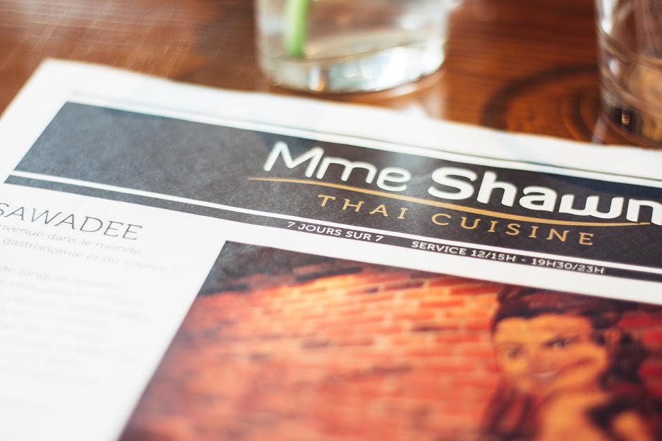 Ma cantine thaïlandaise à Paris : Madame Shawn