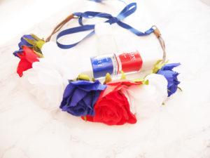 Ma couronne de fleurs bleu blanc rouge !