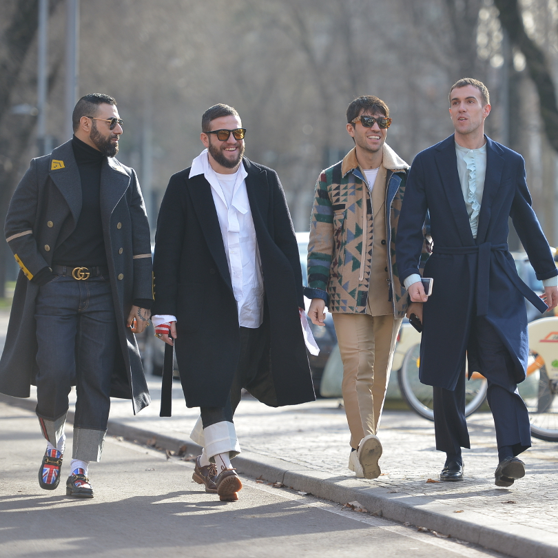 Street Style Milan Men fashion week