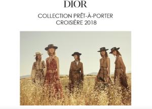 DIOR : COLLECTION PRET-A-PORTER CROISIERE 2018