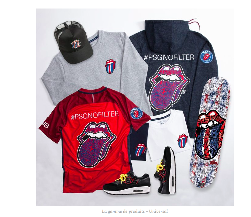 COLLABORATION MODE : LE PSG x ROLLING STONES