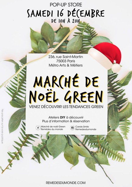 LE MARCHE DE NOEL GREEN MADE IN FRANCE