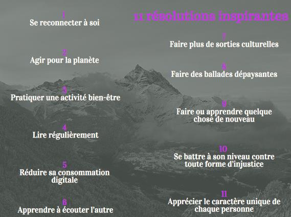 11 résolutions inspirantes