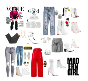 Toutes en bottines blanches – Nadinezvous