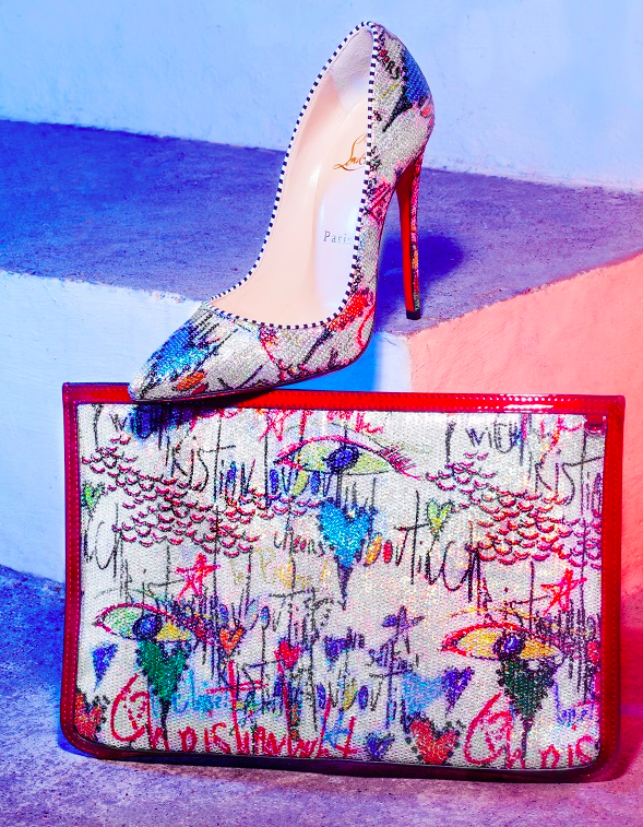 La collection paillette Loubitag signée Christian Louboutin
