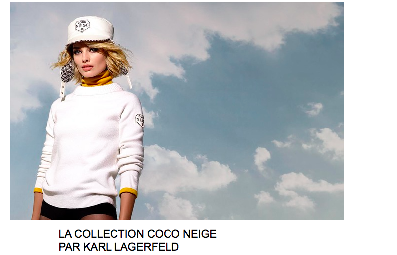 CHANEL : LA COLLECTION COCO NEIGE  PAR KARL LAGERFELD