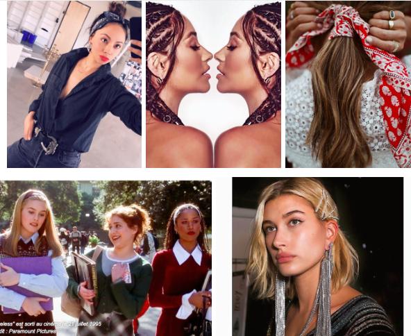 Beauté : coiffures et accessoires nineties
