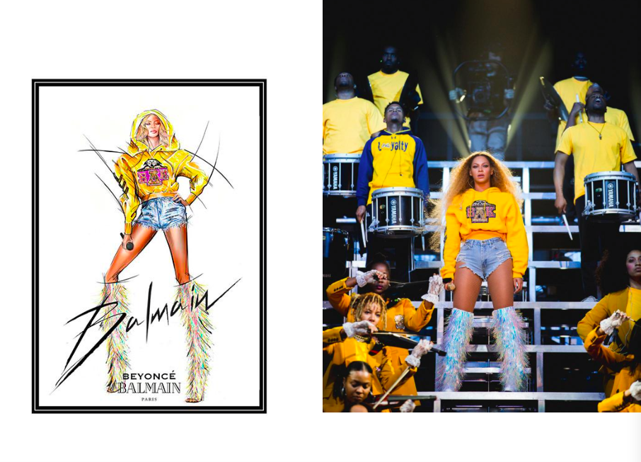 Collaboration mode : Maison Balmain x Beyoncé