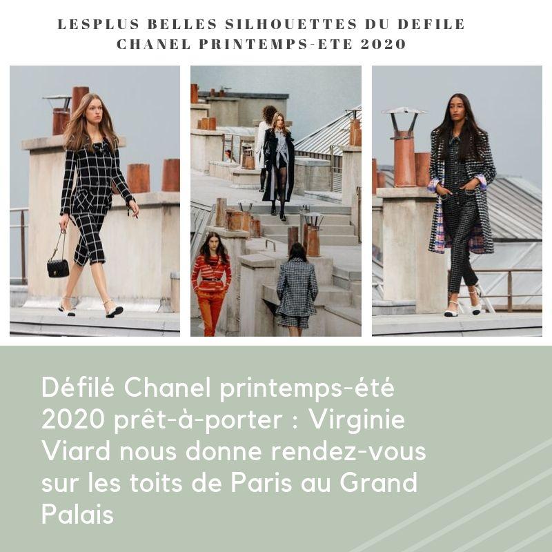 Défilé Chanel printemps-été 2020 prêt-à-porter : Virginie Viard nous donne rendez-vous sur les toits de Paris au Grand Palais
