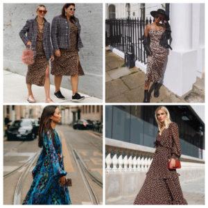 Des robes imprimées pour cet automne-hiver 2019/2020