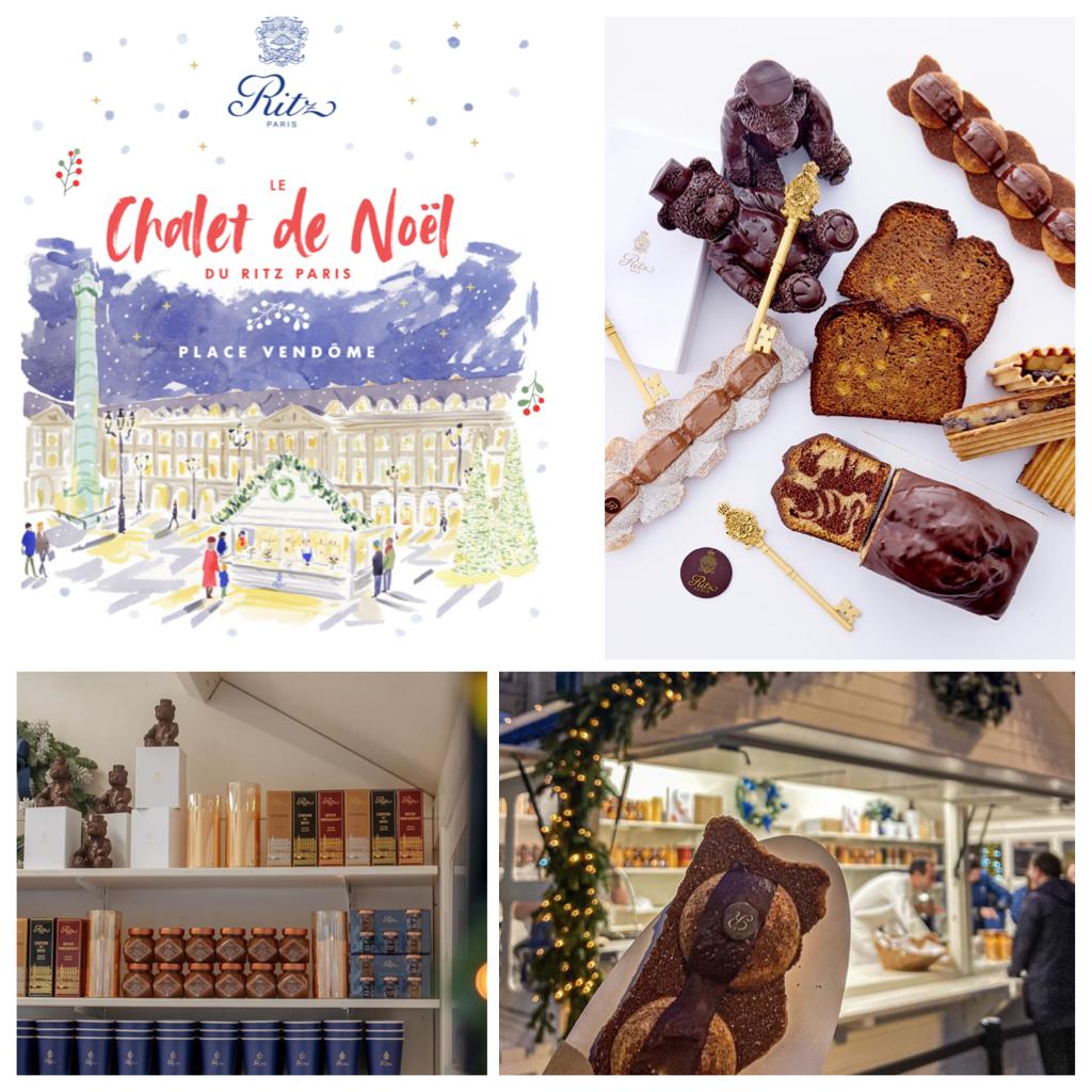 Goûter gourmand : le Chalet de Noël du RITZ PARIS, Place Vendôme