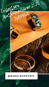 Le bracelet Bagheera Bleu Canard, le must-have de la collection automne-hiver 2020 de bangle up