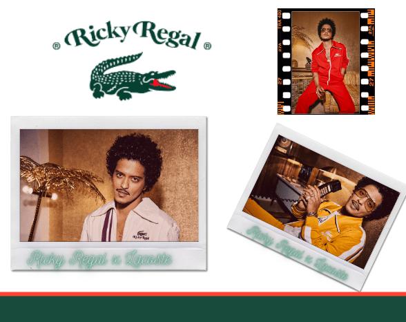 Ricky Regal : Bruno Mars revisite le vestiaire Lacoste